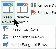 keep rows