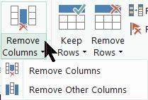 remove columns