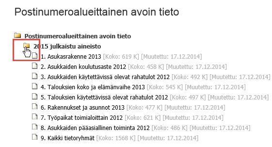 Tilastokeskuksen avoin data