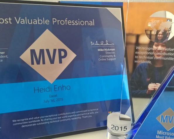Excel MVP tunnustus