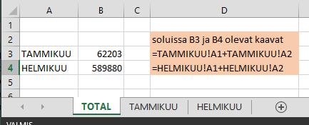 Epäsuora viittaus Excelissä
