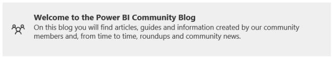 power bi community blog