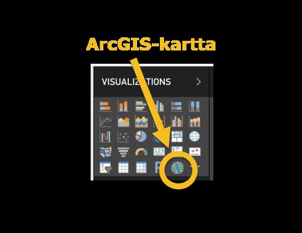 ArcGIS-kartat Power BI:ssä